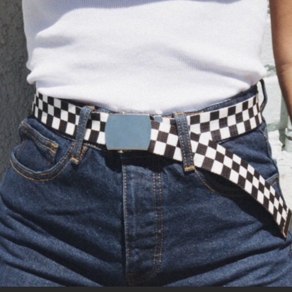 bed4bd09ea Brandy Melville Accessories - Checkered belt similar to brandy Melvilles